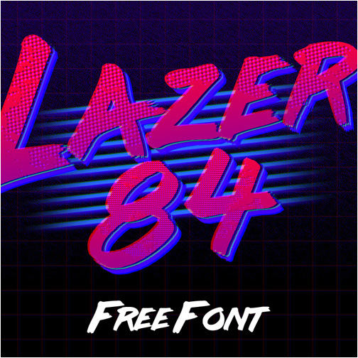 10 Tubular 80's Free Fonts You Need To Have - Indieground Design