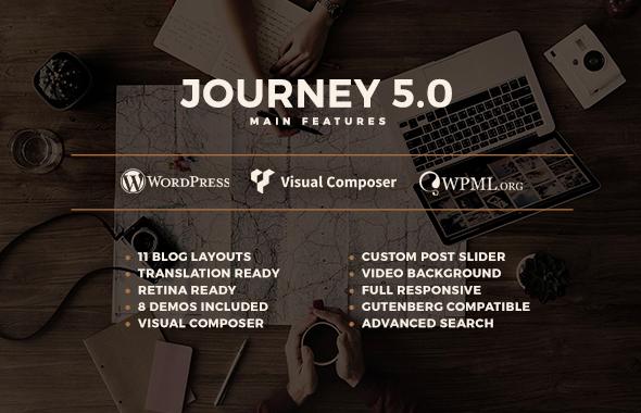 Journey - Personal WordPress Blog Theme - 1